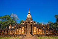 Wat Chang Lom Temple at Si Satchanalai Historical Park, a UNESCO world heritage site in Sukhotha, Thailand Royalty Free Stock Photos