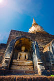 Wat Chang Lom Temple at Si Satchanalai Historical Park, a UNESCO world heritage site in Sukhotha, Thailand Royalty Free Stock Photography
