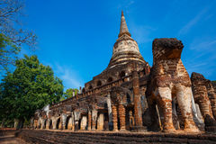Wat Chang Lom Temple at Si Satchanalai Historical Park, a UNESCO world heritage site in Sukhotha, Thailand Stock Photos
