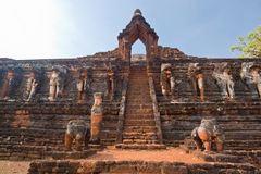 Wat Chang Lorm,world heritage at Thailand Stock Photography