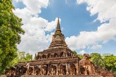 Wat chang ROM-minne Sukhothai, Thailand Royaltyfri Bild