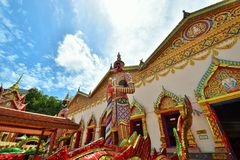 Wat Chayamangkalaram , Penang, Malaysia. Wat  Chaiya Mangkalaram is a Thai Buddhist temple in George Town, Penang, Malaysia was built in 1845 most notable for Royalty Free Stock Photo