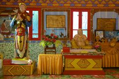 Wat Chayamangkalaram Thai Temple del Buda de descanso Penang imagen de archivo libre de regalías