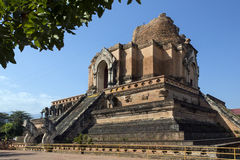 Wat Cheddi Luang - Chiang Mai - Thailand. Arkivfoton