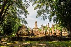 Wat Chedi Chet Thaew at Srisatchanalai historical park in Sukhot Stock Photography