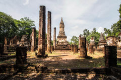 Wat Chedi Chet Thaew at Srisatchanalai historical park in Sukhot Stock Photos