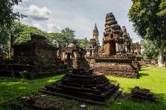 Wat Chedi Chet Thaew at Srisatchanalai historical park in Sukhot Royalty Free Stock Photo