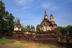 Wat Chedi Chet Thaew at Srisatchanalai historical park in Sukhothai Stock Image