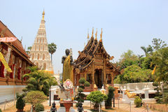 Wat Chedi Liam or Wat Ku Kham, one of the ancient Thai temples o Royalty Free Stock Image