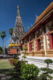 Wat chedi lium, Wiang kumkam,Chiangmai. Wat Chedi Liam (originally Wat Ku Kham; also written as Wat Chedi Liem) is one of the wats in the ancient Thai city of royalty free stock images