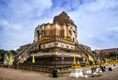 Wat Chedi Luan(Temple) in Chiang Mai, Thailand. popular tourist destination. Royalty Free Stock Photography