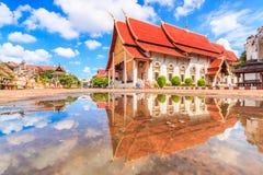 Wat Chedi Luang寺庙的古老塔在清迈,泰国 库存照片