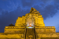 Wat Chedi Luang,其中一个区域的最重要的寺庙 图库摄影
