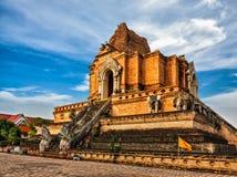 Wat Chedi Luang 清迈,泰国 免版税库存照片