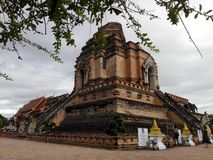 Wat Chedi Luang royalty-vrije stock afbeeldingen