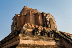 Wat Chedi Luang buddhist temple Royalty Free Stock Photos