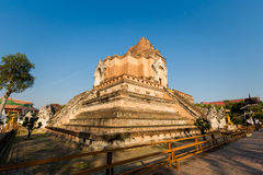 Wat Chedi Luang buddhist temple Royalty Free Stock Photography
