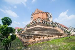 Wat Chedi Luang, a Buddhist temple in the historic centre of Chiang Mai, Thailand Royalty Free Stock Photo