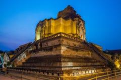 Wat Chedi Luang Chaing Mai, thailändsk tempel, buddistisk tempel Royaltyfria Bilder