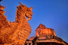 Wat Chedi Luang Chiang Mai stockbilder