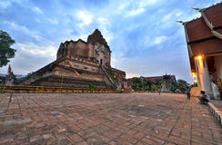 Wat Chedi Luang, Chiang Mai Arkivfoton