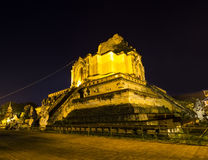 Wat Chedi Luang  Chiang Mai in the night Stock Images