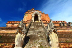 Wat Chedi Luang. At Chiang Mai - North Thailand Stock Photography