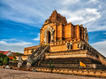 Wat Chedi Luang Chiang Mai, Thaïlande Photos libres de droits