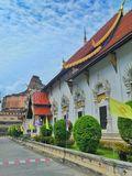 Wat Chedi Luang in Chiang Mai Thailand stock photos