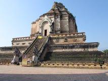 Wat Chedi Luang Chiang Mai Thailand arkivbilder