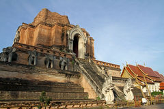 Wat Chedi Luang in Chiang Mai Royalty Free Stock Photography