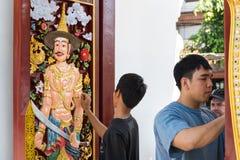 Wat Chedi Luang Chiang Mai, Thailand royaltyfria foton