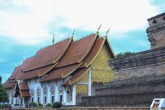 Wat Chedi Luang, Chiang Mai, Thailand. Beautiful Buddhist Temples of Stock Photography