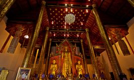 Wat Chedi Luang, Chiang Mai,thailand. Interior of Wat Chedi Luang , the biggest and most popular Buddhist temple in the historic centre of Chiang Mai royalty free stock photo