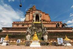 Wat chedi luang chiangmai thailand Stock Photos