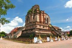 Wat chedi luang chiangmai thailand Stock Image