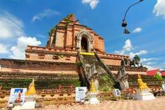 Wat chedi luang chiangmai thailand Royalty Free Stock Photos