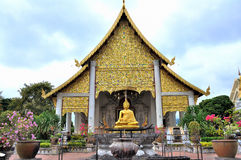 Tempel in Wat Chedi Luang Royalty-vrije Stock Afbeelding