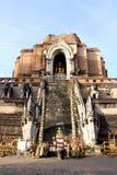Wat Chedi Luang en Chiang Mai foto de archivo