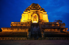 Wat Chedi Luang in the evening. Stock Image