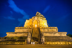 Wat Chedi Luang Famous Temple di ChiangMai, Thaila Fotografia Stock