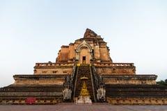 Wat Chedi Luang i Chiang Mai, Thailand Arkivbilder
