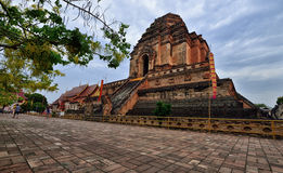 Wat Chedi Luang, mai Chiang Стоковое Фото