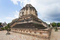 Wat Chedi Luang Tempel in Chiang Mai, Thailand. stockfotos