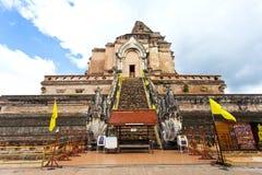 Wat Chedi Luang Tempel in Chiang Mai, Thailand. lizenzfreies stockbild