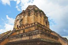 Wat Chedi Luang-Tempel am Tag, Chiang Mai, Thailand. stockbilder