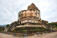 Wat Chedi Luang Temple in Chiang Mai stockfoto