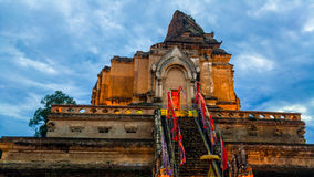 Wat Chedi Luang Temple in Chiang Mai Stock Photography