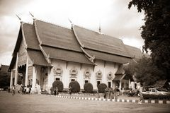 Wat Chedi Luang Temple, Chiang Mai thailand photo stock