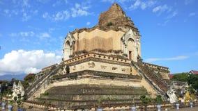 Wat Chedi Luang Temple at Chiang mai, Thailand.  stock footage